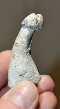 A scarce, heavy and very unusual solid Roman lead votive phallic amulet (For both Fertility & Good Luck) found in Essex. SOLD